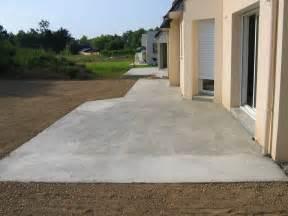 beton terrasse nivrem fixer terrasse bois dalle beton diverses
