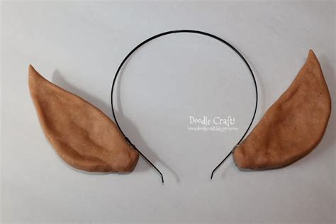 How To Make Paper Ears - doodlecraft elven princess or ears headband