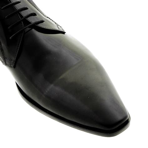 disanto shoes hi shine 2941 black leather lace up shoe