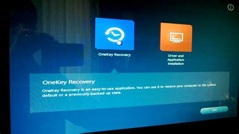 resetting recovery key f2 key factory resetting a lenovo b540 all in one