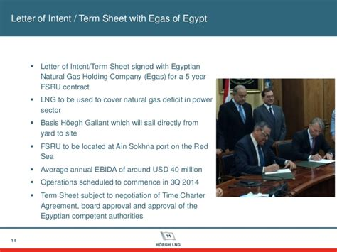 Letter Of Interim Agreement Hoegh Lng Q1 2014 Results Presentation