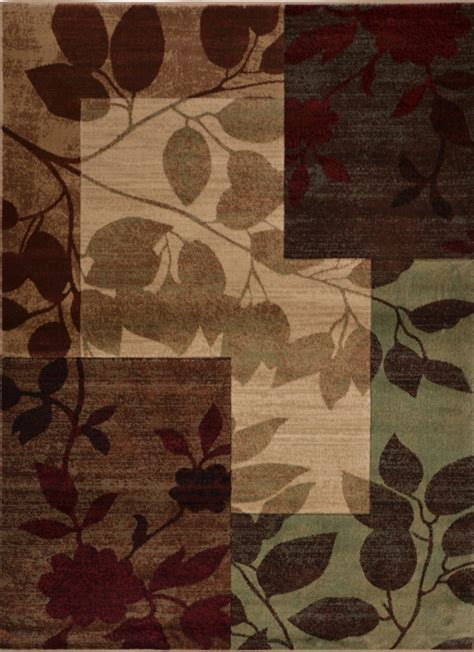 leaf pattern runner rug transitional leaf squares area rug floral vine runner