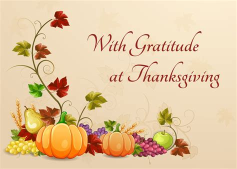 Thanksgiving Card Messages Business