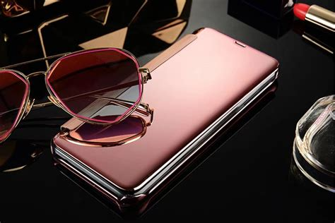 Terbaru Casing Flip Mirror Samsung Galaxy A5 2017 luxury view window plating mirror flip for samsung galaxy s8 s8 plus a5 a7 a3 j3 j5 j7 2017