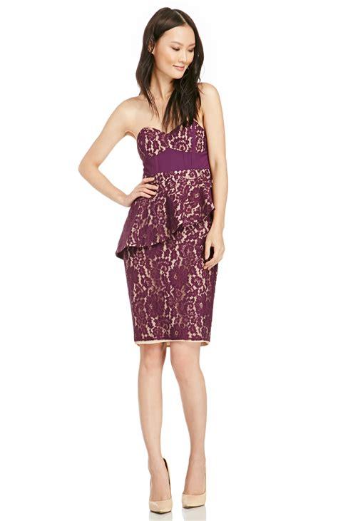Lotus Lace Dress stylestalker lotus lace dress in purple xs dailylook