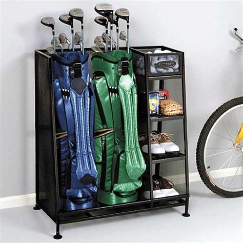 garage golf organizer golf organizer rack joe may need one of these for the