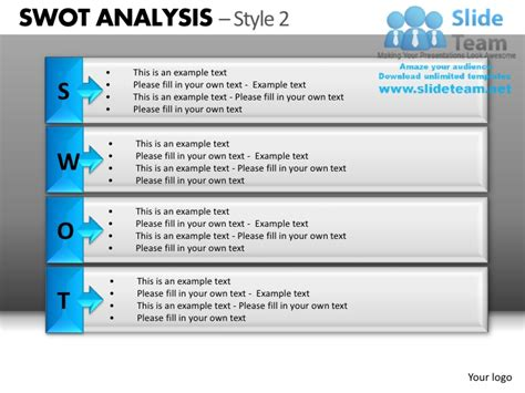 Swot Analysis Style 2 Powerpoint Presentation Slides Db Swot Analysis Exle Ppt