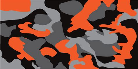 Folie Camouflage Orange by Black Gray Orange Camouflage Powersportswraps