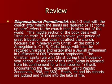 section 20 dispensation wk12 revelation 20 and the question of the millennium