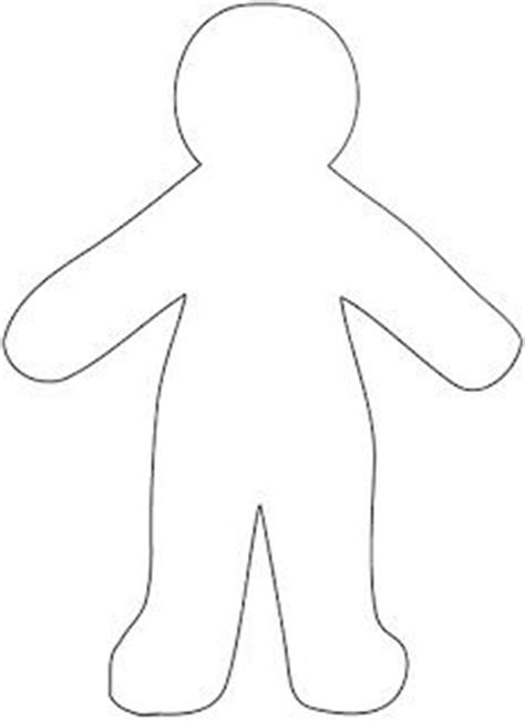 blank paper doll template paper doll template