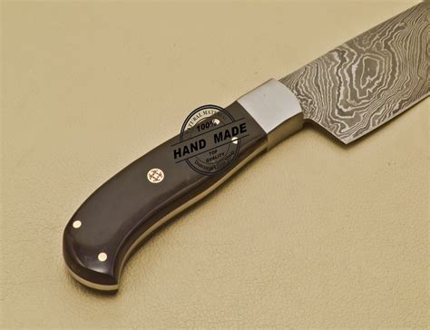 custom kitchen knives custom handmade damascus steel chef kitchen knife with buffalo horn