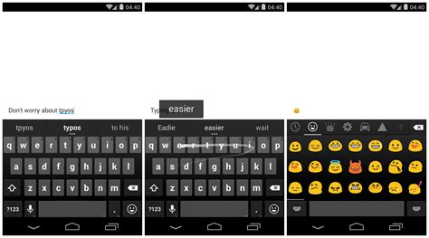 android keyboard with emojis keyboard 2 0 hits the play store brings space aware gesture typing and emojis