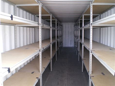 shipping container storage shelving gateway containers