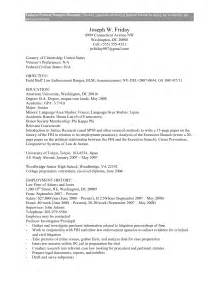 government resume template federal government resume exle federal government