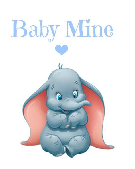 kinderzimmer bild dumbo dumbo baby mine nursery printable instant by