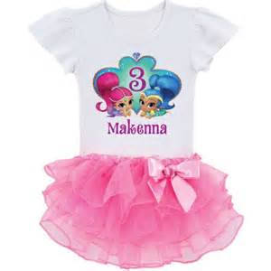 personalized shimmer and shine birthday wish toddler tutu