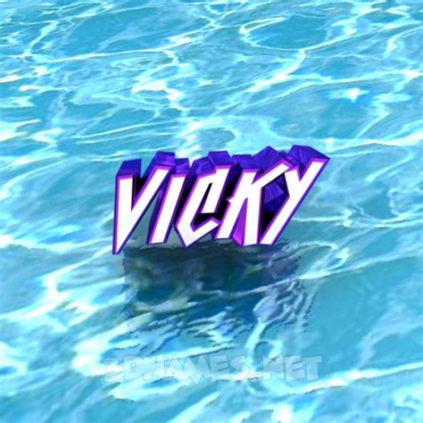 3d wallpaper vicky preview of water for name vicky