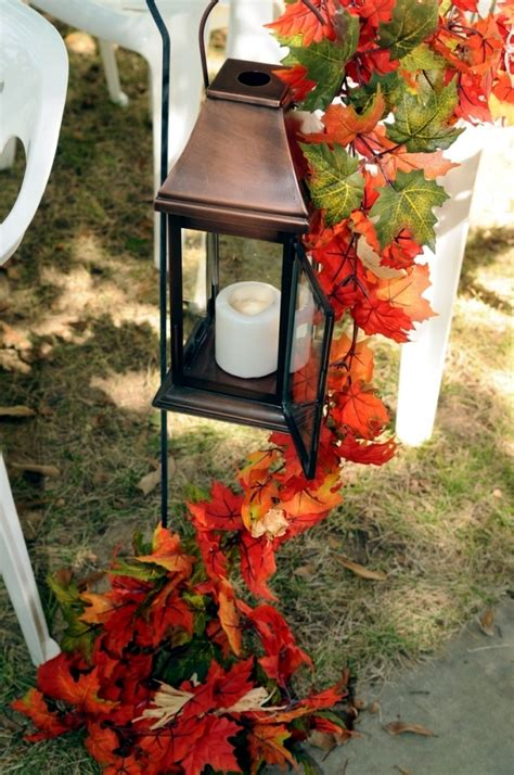 Old Country Home Decor 30 ideas for atmospheric autumn decoration with lights and