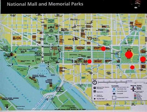 washington dc map national mall dc mall map map travel holidaymapq