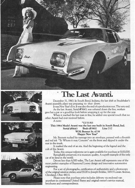 Last Studebaker-built Avanti to go on National Historic Ve
