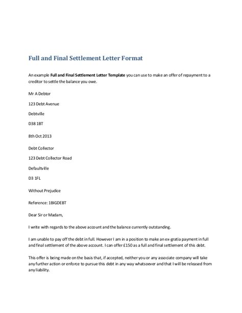 Letter Format For Loan Settlement Request For And Settlement Letter Format