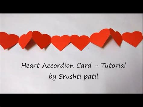 carding tutorial video heart card accordion tutorial by srushti patil youtube