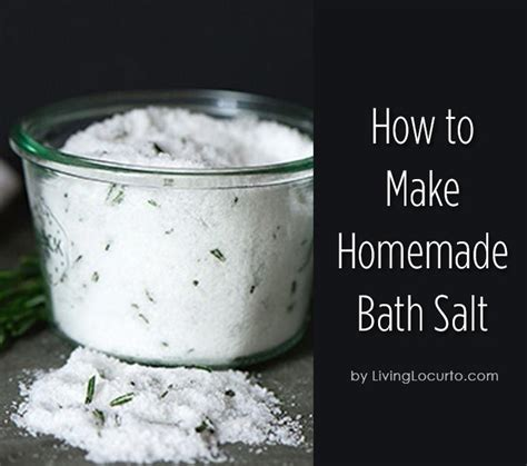 Handmade Bath - how to make bath salt how to make