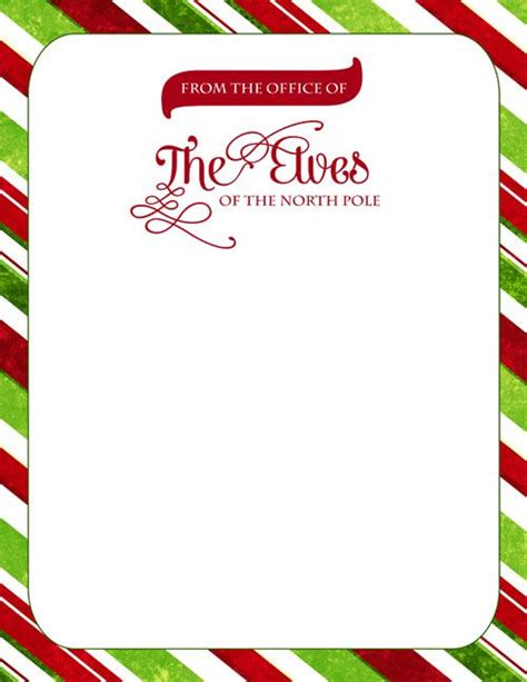 printable elf on the shelf stationary 1000 ideas about letter from santa template on pinterest