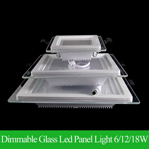 Panel Led 2 Warna 6 dimmable led panel downlight bright glass square ceiling recessed panel lights smd 5360