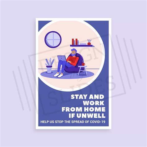 stay safe  home poster safety signage design