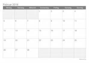 Kalender 2018 Februar Kalender Februar 2018 Zum Ausdrucken Ikalender Org