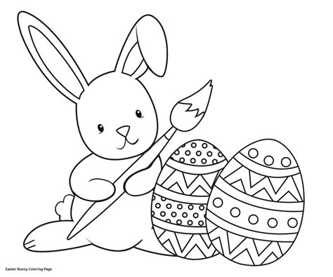 easy easter coloring pages printable simple easter bunny coloring pages coloring pages for