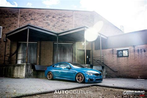bmw m4 stanced stanced bmw m4 f32 187 cartuning best car tuning photos