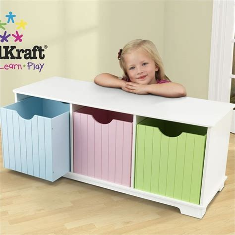 kidkraft nantucket storage bench pastel kidkraft nantucket storage bin and bench pastel 14565