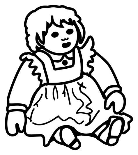 Boneka Emotion Line Doll Toys clipart doll lineart