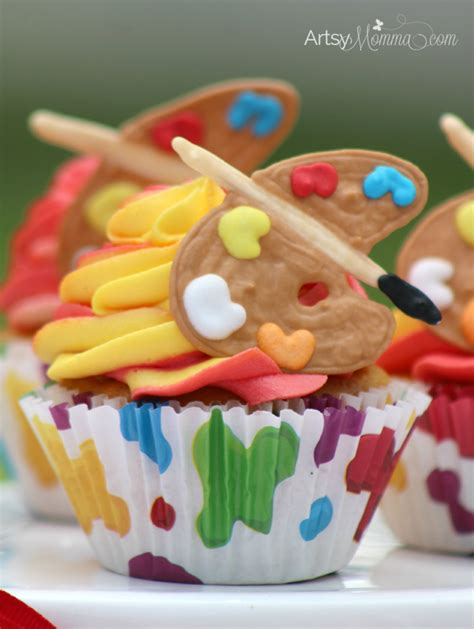 What Do You About Cupcakes by Easy Cupcakes With Edible Paint Palette Toppers