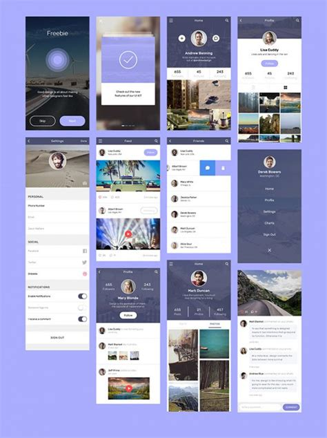 application design concepts social app concept design freebiesbug