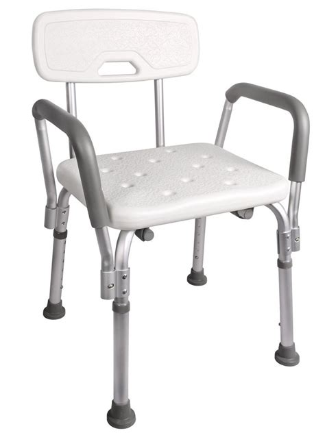 bath and shower chairs adjustable shower chair bathtub bench bath seat stool armrest back white ebay