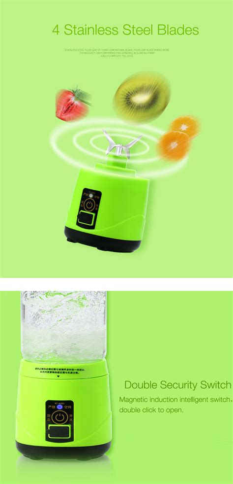 Blender Buah Dobule Cup Portable 2 In 1 500ml remax 500ml handheld power usb electric fruit juicer portable electrical smoothie maker