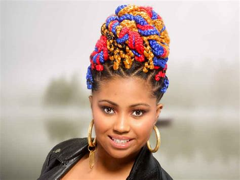 multi colored box braids braids hairstyles universal salons hairstyle and hair