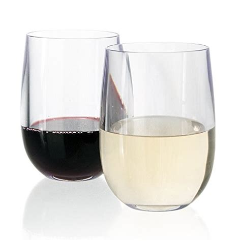 thick wine glasses premium quality thick walled large capacity plastic 14oz