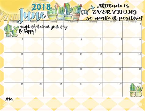 june calendar 2018 printable download word excel format