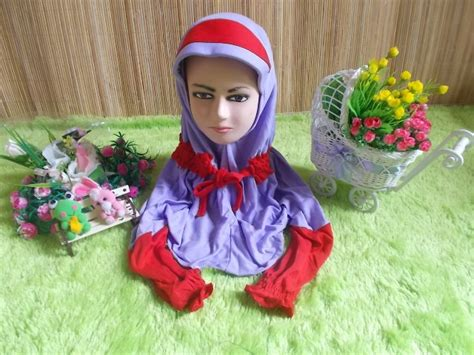 Jilbab Anak Umur 4 Tahun jilbab anak paud dengan lengan tangan panjang menyambung ungu merah jilbab anak jual jilbab