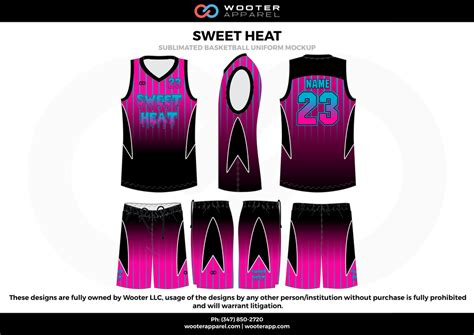 jersey design color pink reversible full sublimation basketball uniform wooter