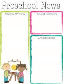 free printable preschool newsletter templates search results for free printable monthly newsletter