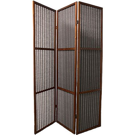 room dividers walmart ore international 3 panel rattan room divider walnut walmart