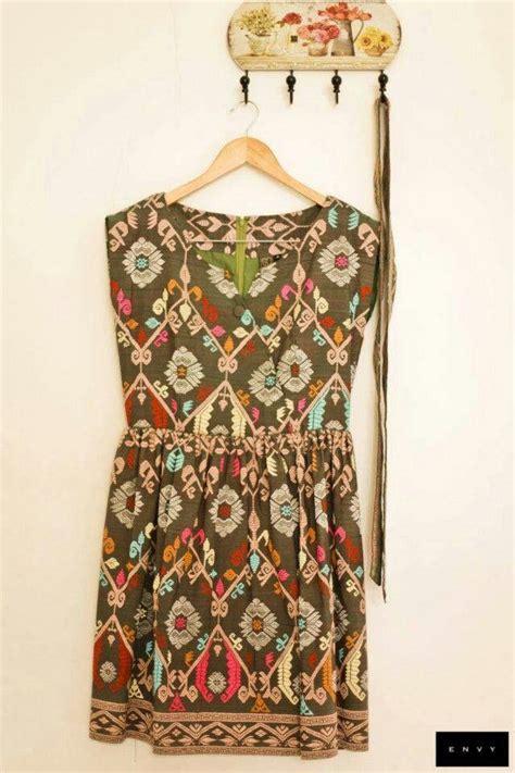 Dress Tenun Bali tenun indonesia tenun songket indonesia