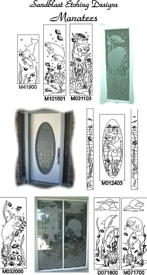 Glass Door Etching Stencils Etched Glass Custom Glass Etching And Frosted Window Door Decals