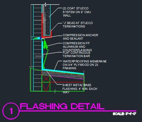 Metal Awnings For Doors Roof Flashing Detail Cad Files Dwg Files Plans And Details