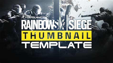rainbow six siege youtube thumbnail template photosh